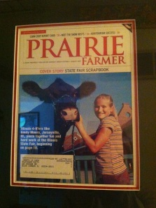 "One of the heifers in the ""pen"" is Luella who was featured on the cover of Prairie Farmer when I was 13 and wrote about my experience at the IL State Fair."