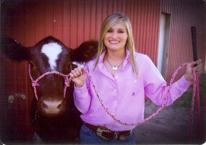Another one of these show heifers was Pearl, who was in all of my senior pictures and is the only cow/calf pair my dad ever allowed me to exhibit as a junior.