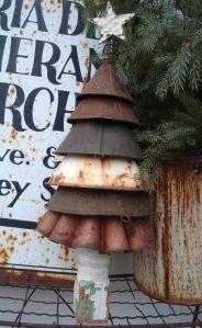 Rusty funnel tree.