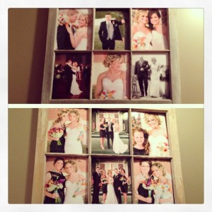 These are my two barn frames full of wedding memories!