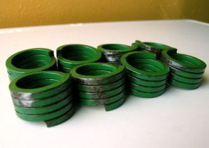 Napkin holders out of springs and much more. Click on the picture to get to the etsy site with even more ideas!
