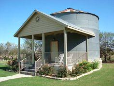 Small grain bin home